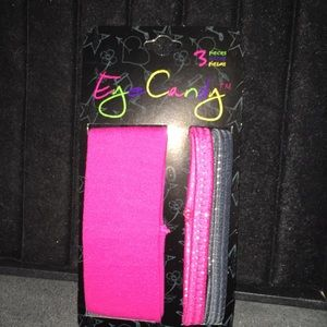 Eye candy pink & black headbands (3)
